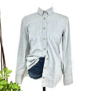 J. Crew Perfect Gray Polka Dot Button Dress Shirt